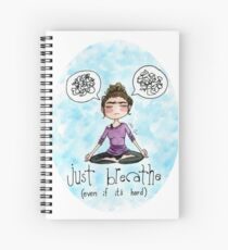 Just Breathe Watercolor Sticker and Shirt Spiral Notebook