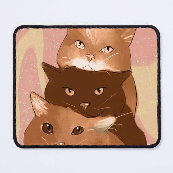 Pink Kitties  Mouse Pad