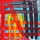 Cruzado I - Abstract Watercolor by Dan Vera by danvera