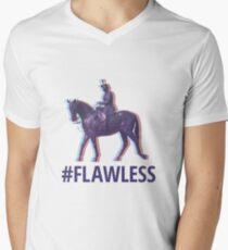 #FLAWLESS Men's V-Neck T-Shirt