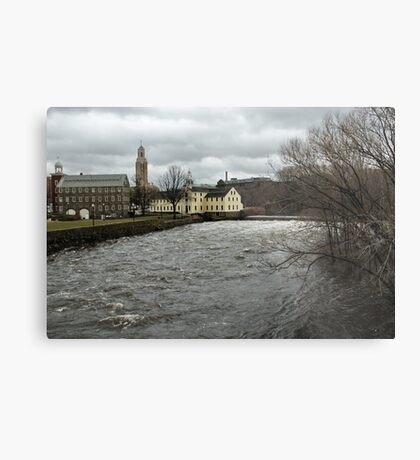 Slater Mill in Winter Metal Print