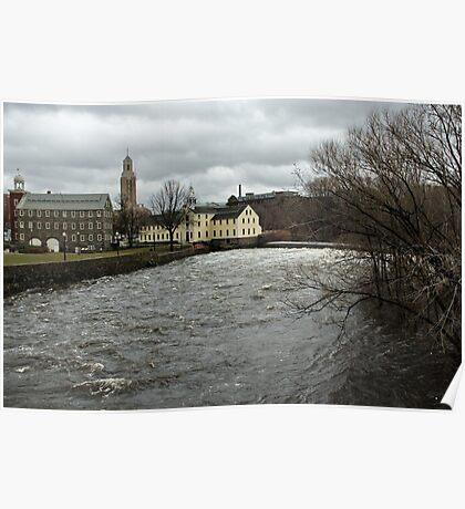 Slater Mill in Winter Poster