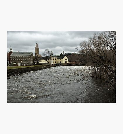 Slater Mill in Winter Photographic Print