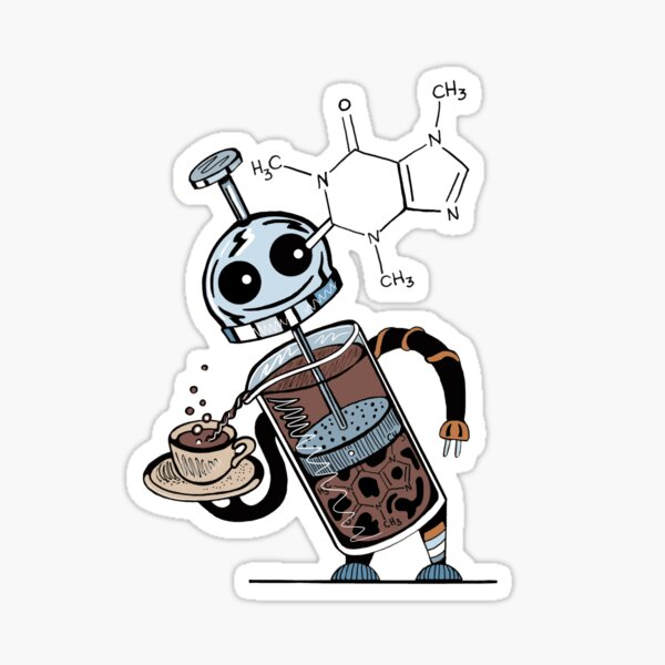 Coffee Bot Sticker