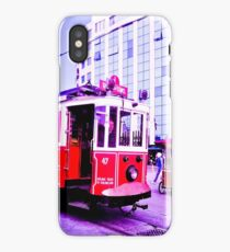 Red tram. iPhone Case/Skin