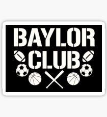 Baylor Club Black and White Sticker