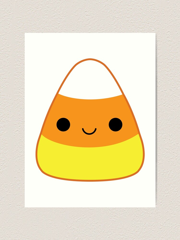 Cute Candy Corn Art Print By Katiecrumpton Redbubble