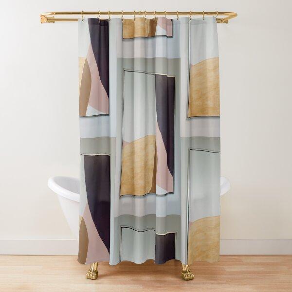 Plywood Art  Shower Curtain