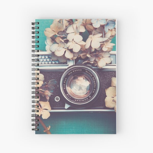 Camera & Hydrangea Spiral Notebook