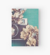Camera & Hydrangea Hardcover Journal
