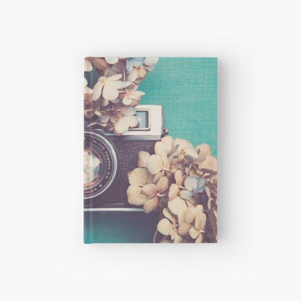 Camera & Hydrangea Hardcover Journal