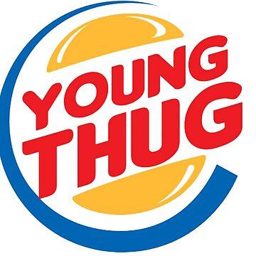 Young Thug Burger King by Jetblackbob