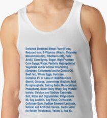Twinkie ingredients (blue text on light color shirts) Tank Top