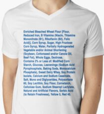 Twinkie ingredients (blue text on light color shirts) Men's V-Neck T-Shirt