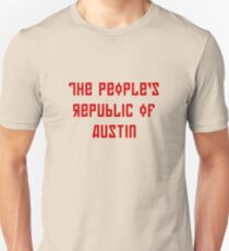 The People's Republic of Austin (red letters) T-Shirt