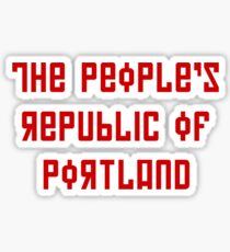 The People's Republic of Portland (red letters) Sticker