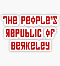 The People's Republic of Berkeley (red letters) Sticker