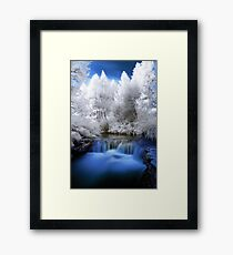 Kerosine creek in infrared 2 Framed Print