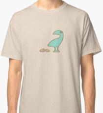 Aqua bird with eggs Classic T-Shirt