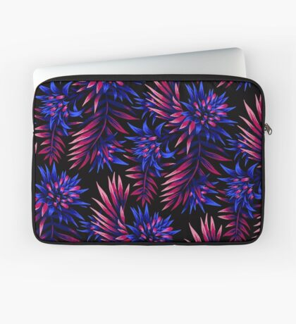 Fasciata Tropical Floral - Dark Blue / Purple Laptop Sleeve