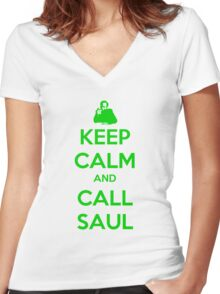 Keep Calm And Call Saul Women's Fitted V-Neck T-Shirt