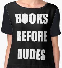 books before dudes Women's Chiffon Top