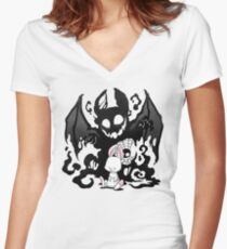 Beast Bunny Women's Fitted V-Neck T-Shirt