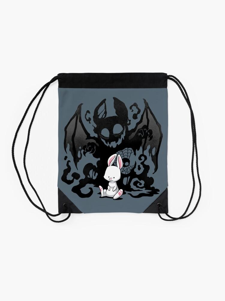 Alternate view of Beast Bunny Drawstring Bag