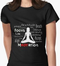 Meditation Women's Fitted T-Shirt