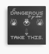 It's Dangerous to go alone, take this! Canvas Print