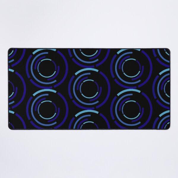 Circles Blue Desk Mat