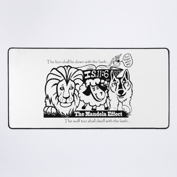 The Lion shall lie down with the lamb Desk Mat