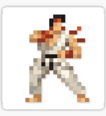 Ryu 8-bit Streetfighter Sticker