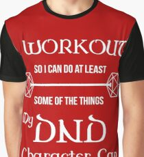 DnD Character Workout - in white Graphic T-Shirt