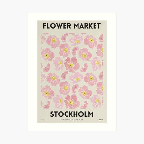 Flower Market – Stockholm Art Print