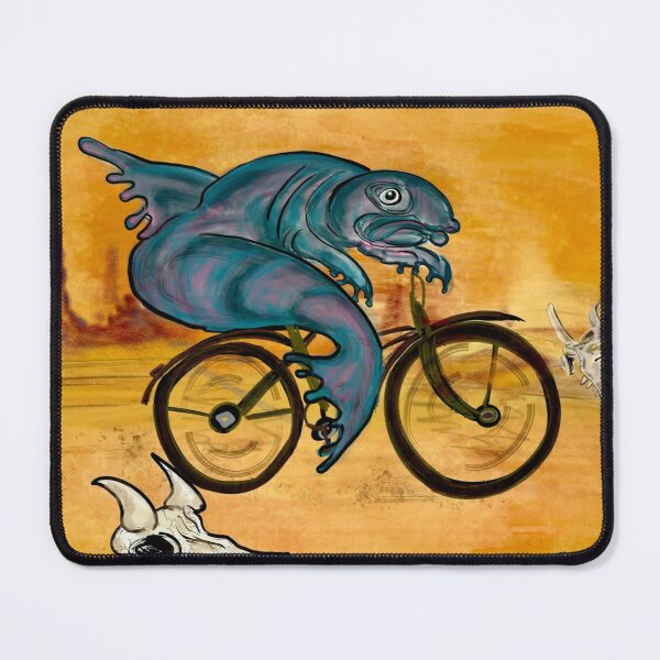 A fish needs a bicycle  Mouse Pad