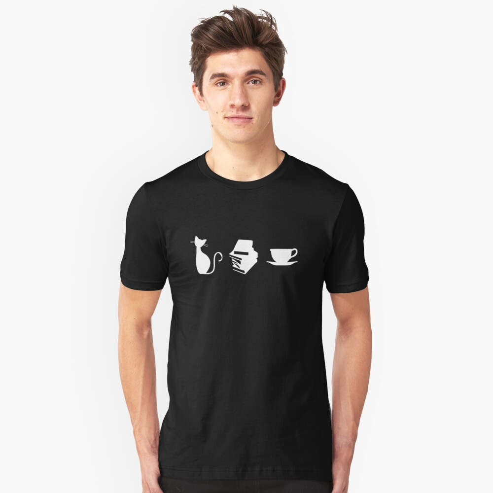 Cats, Books, and Coffee Slim Fit T-Shirt