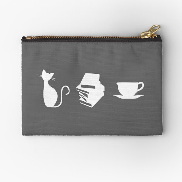 Cats, Books, and Coffee Zipper Pouch