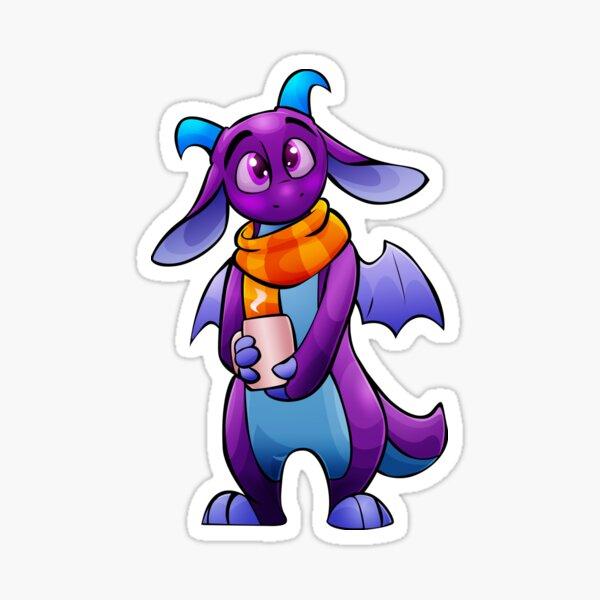 Cozy Dragon Sticker