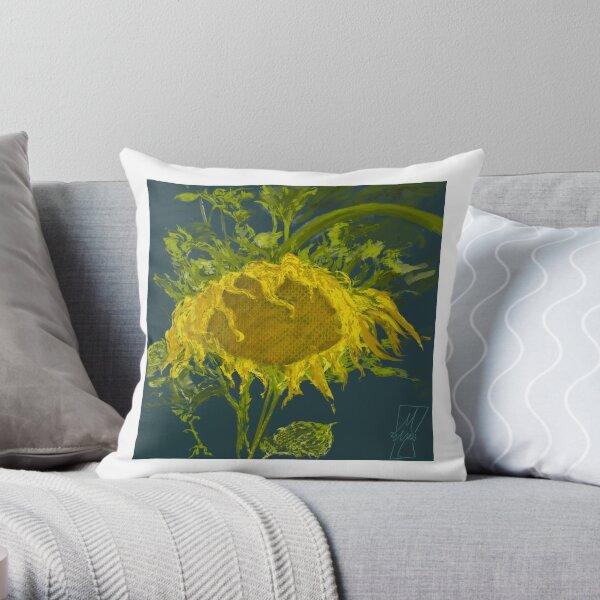 Sunflower without Van Gough Throw Pillow