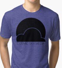 Cosmic Sky Media Logo (Black) Tri-blend T-Shirt