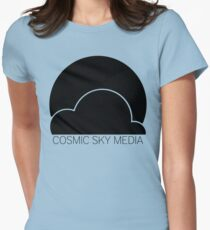 Cosmic Sky Media Logo (Black) Women's Fitted T-Shirt