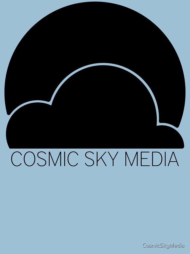Cosmic Sky Media Logo (Black) by CosmicSkyMedia