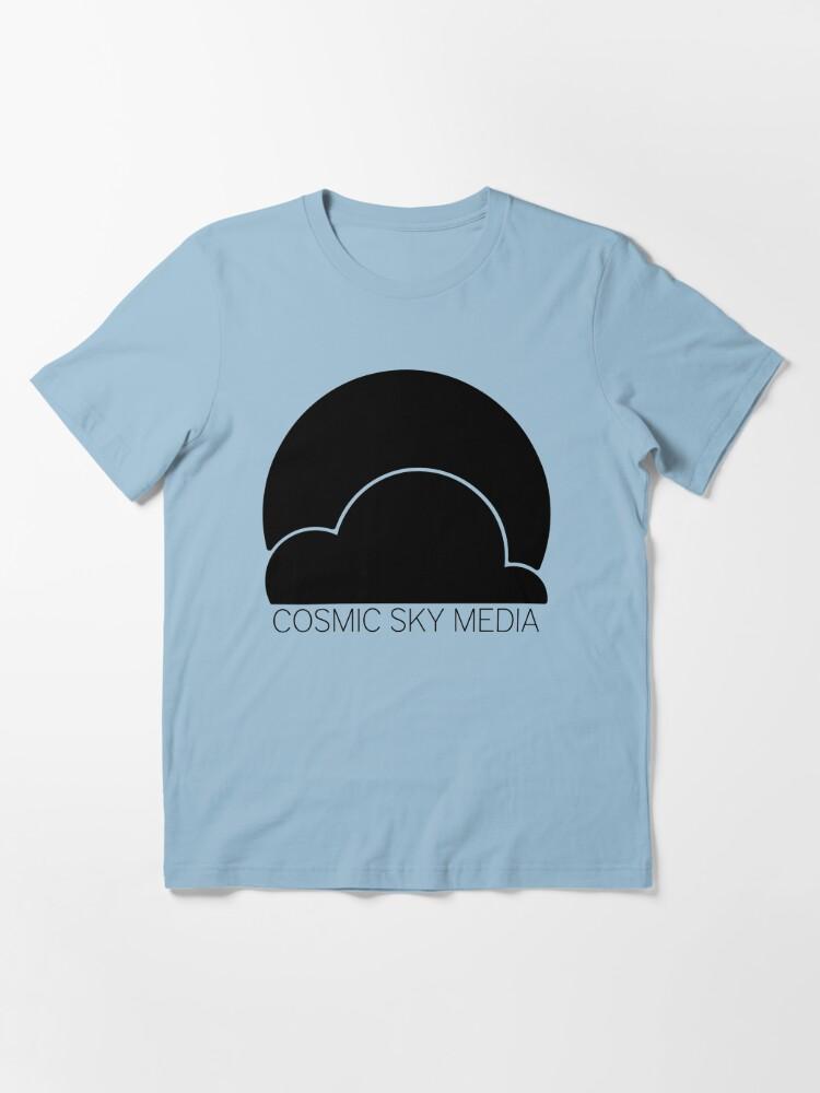 Alternate view of Cosmic Sky Media Logo (Black) Essential T-Shirt