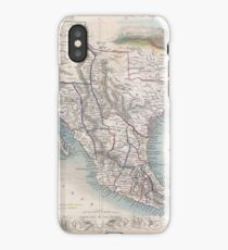 Vintage Map of Mexico (1851) iPhone Case