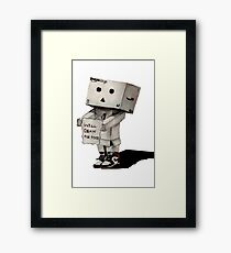 Danbo Drawing Framed Print