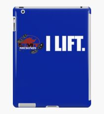 I Lift.  Weight lifting T-shirt iPad Case/Skin