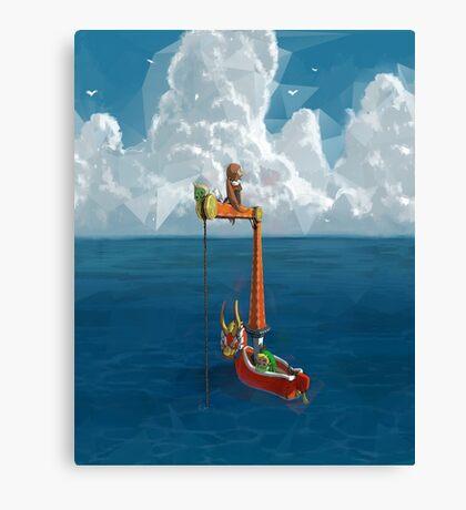 Wind Waker-Lone Ocean  Canvas Print