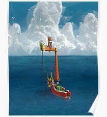 Wind Waker-Lone Ocean  Poster