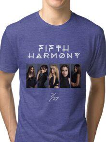 Fifth Harmony 7/27 Portrait #WhiteText Tri-blend T-Shirt